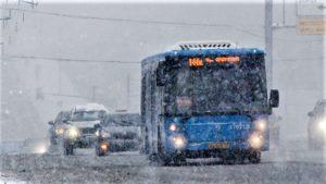 автобус зимой